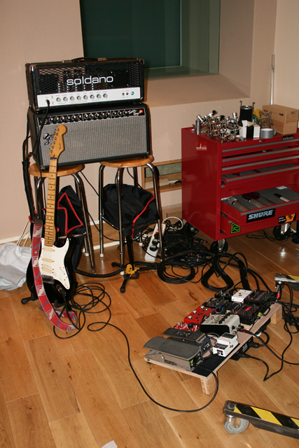 Dave's Studio Setup For Tracking Salt and Pepper
